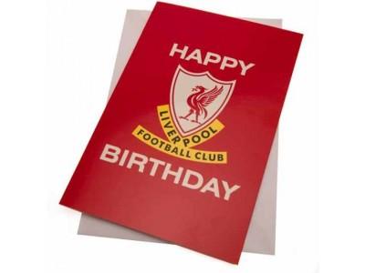 Liverpool FC Birthday Card Liverbird