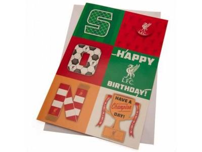Liverpool FC Birthday Card Son