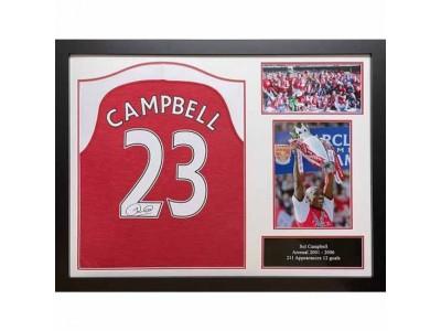 Arsenal FC Campbell Signed Shirt (Framed)