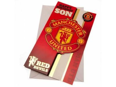 Manchester United FC Birthday Card Son