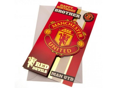 Manchester United FC Birthday Card Brother