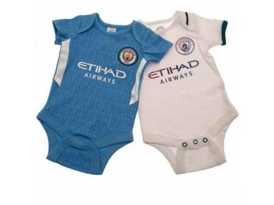Manchester City FC 2 Pack Bodysuit 3/6 Months SQ