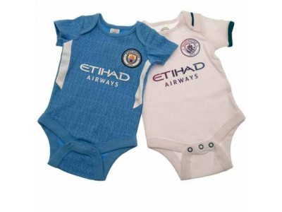 Manchester City FC 2 Pack Bodysuit 9/12 Months SQ