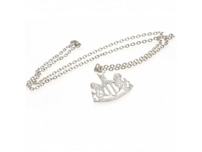 Newcastle United FC Silver Plated Pendant & Chain