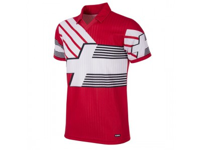 Switzerland 1990 - 92 Short Sleeve Retro Football Shirt