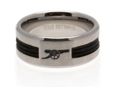 Arsenal FC Black Inlay Ring Small