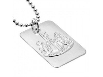 Newcastle United FC Silver Plated Dog Tag & Chain