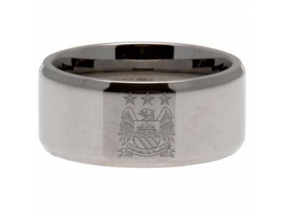 Manchester City FC Band Ring Medium EC