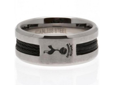 Tottenham Hotspur FC Black Inlay Ring Large