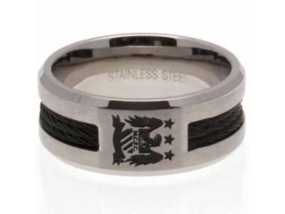 Manchester City FC Black Inlay Ring Small EC