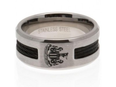 Newcastle United FC Black Inlay Ring Large