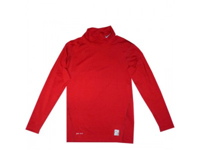 pro combat compression mock shirt - red