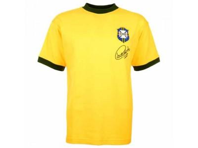 Brazil 1970 World Cup Carlos Alberto Retro Football Shirt