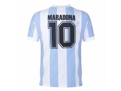 Argentina 1986 World Cup Maradona 10 Retro Shirt - In Stock