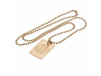 Chelsea FC Gold Plated Dog Tag & Chain
