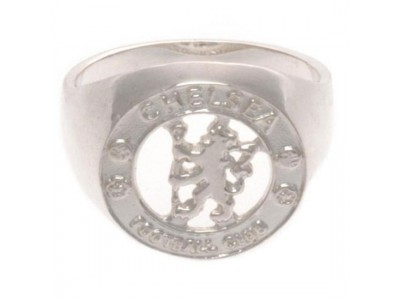 Chelsea FC Sterling Silver Ring Medium