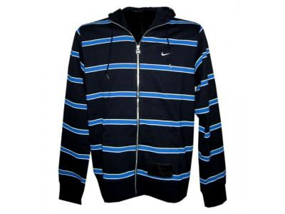 Nike hoody full zipper top stripe - mens - navy