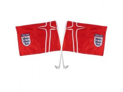 England FA Car Flag Twin Pack