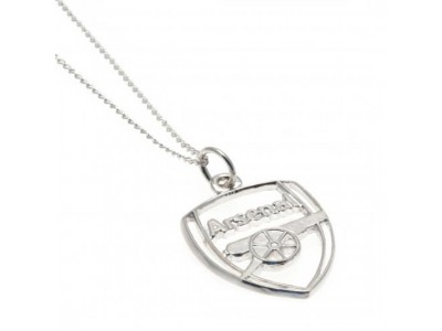 Arsenal FC Sterling Silver Pendant & Chain CR