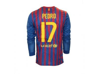 FC Barcelona home jersey L/S 2011/12 - Pedro 17