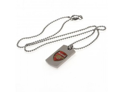 Arsenal FC Colour Crest Dog Tag & Chain
