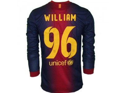 FC Barcelona Home Jersey L/S 2012/13 - Men's, WILLIAM 96