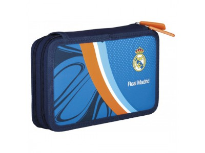 Real Madrid Pencil Case Filled - Double Equiped