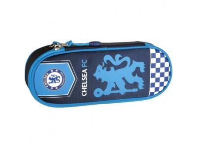 Chelsea pencil case oval - blue