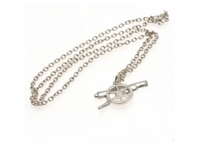 Arsenal FC Silver Plated Pendant & Chain GN