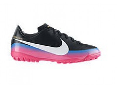 Mercurial Victory TF Cleats - Ronaldo, Black/Pink, Youth