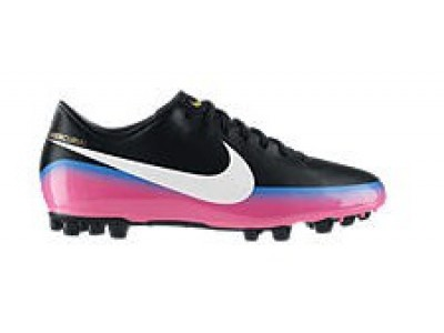 Mercurial Victory AG Cleats - Ronaldo, Black/Pink, Youth