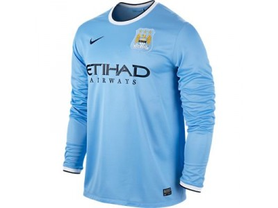 Manchester City Home Long Sleeve Jersey 2013/14