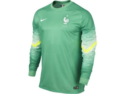 France Home Goalkeeper Jersey 2014 World Cup