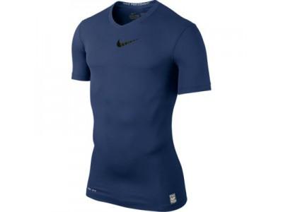 Nike Pro Combat Top S/S - Men's, Navy