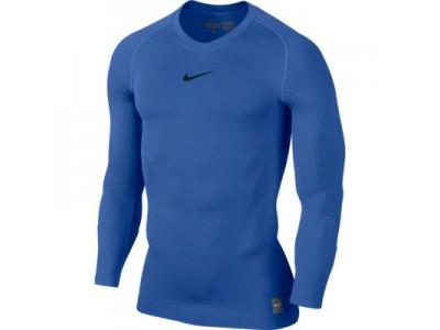 Nike Pro Combat Top L/S - Men's, Blue