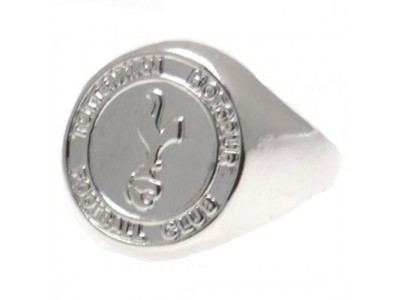 Tottenham Hotspur FC Silver Plated Crest Ring Small