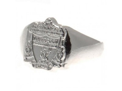 Liverpool FC Silver Plated Crest Ring Large