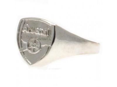 Arsenal FC Silver Plated Crest Ring Small