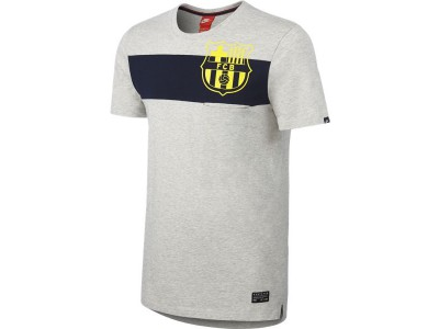 FC Barcelona Covert Pocket Top 2014/15 - Men's, Gray