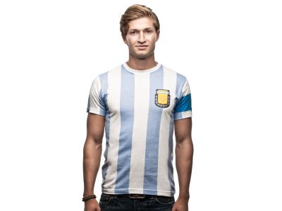Argentina Capitano 1986 T-Shirt - White/Blue