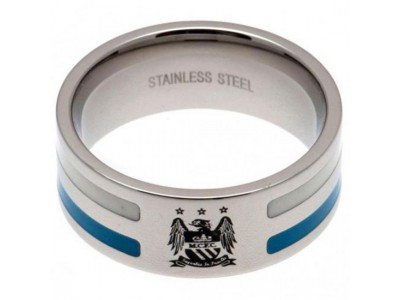 Manchester City FC Colour Stripe Ring Large EC