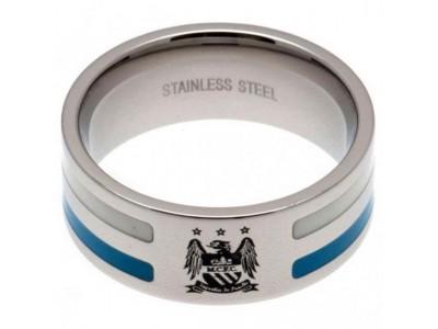 Manchester City FC Colour Stripe Ring Medium EC