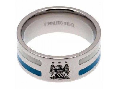 Manchester City FC Colour Stripe Ring Small EC