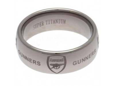 Arsenal FC Super Titanium Ring Large
