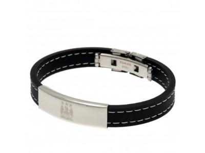 Manchester City FC Stitched Silicone Bracelet EC