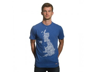 UK Grounds T-Shirt Blue Mêlée