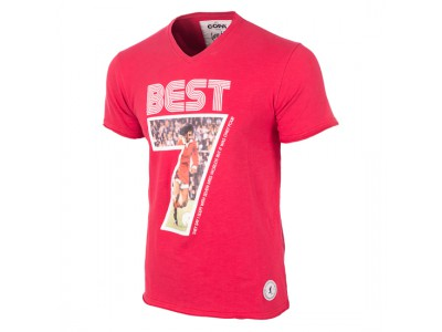 George Best Miss World V-Neck T-Shirt - Red