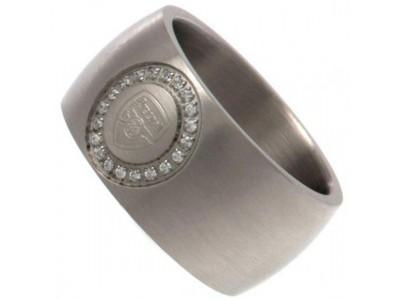 Arsenal FC Stone Set Ring Medium