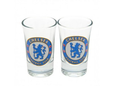 Chelsea FC 2 Pack Shot Glass Set