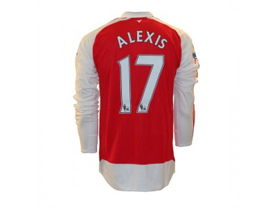 Arsenal home jersey L/S 2015/16 - Alexis 17